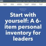 Start with yourself: A 6-item personal inventory for leaders | Leading the Change